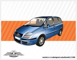 Vertor Blue Car by StudioM6 by Studiom6