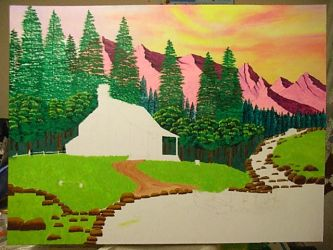 Landscape with house WIP4 by dublodz