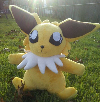 Jolteon Pokemon Plush by Misswd