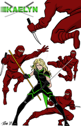 Revolution X Commission 2 - With Ninjas by RogerOtt