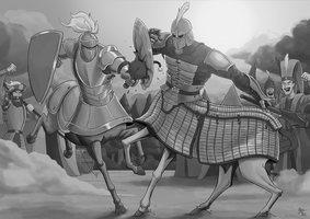 Duel of the Centaurs by A3DNazRigar
