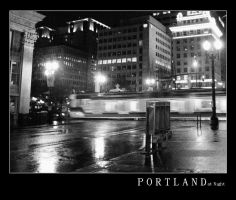Portland at Night 2 by natronics