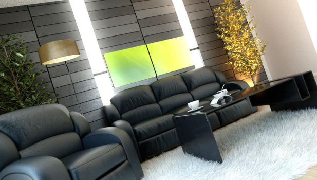 Penthouse Living Room by Flavius-C