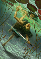 Lady of the Lake Gwent Card by DanielaIvanova