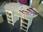 Before - Pink Dressing Table by chaotickitty