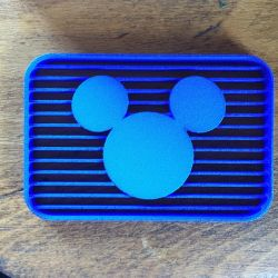 Disney Channel 1983 logo cookie cutter (in blue) by DecaTilde