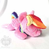 Pink Rainbow Dash ''Lazy Pony'' Beanie by AppleDew
