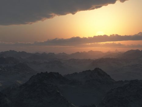 Moutain Sunset by mr-clandestine