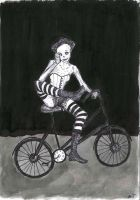 Those Naughty Victorians: Lady and her bicycle by nebozka