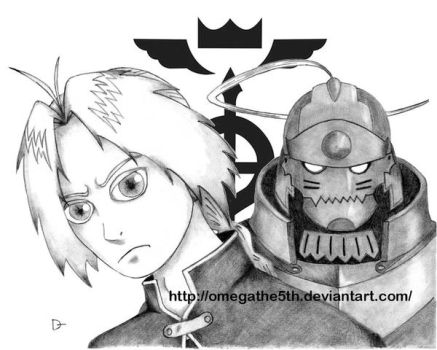 The Elric Brothers by omegathe5th