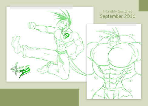 Monthly Sketches - September 2016 by McTaylis