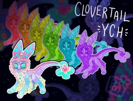 [OPEN 1/4] Tiny Clovertail YCH by Witchin