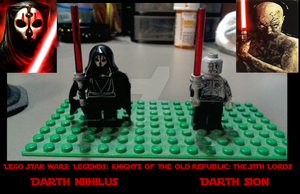 Lego KOTOR II: Darth Nihilus and Darth Sion by ImperialAce