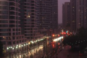 Queens Quay West At Night by seanff