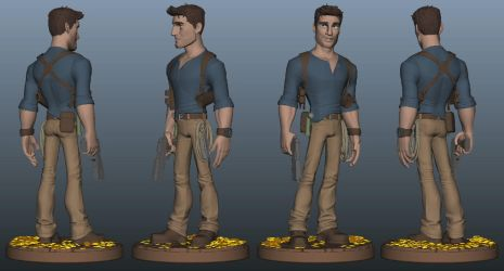 NathanDrake Maquette Idea by clarkartist