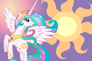 Princess Celestia Wallpaper by Luuandherdraws
