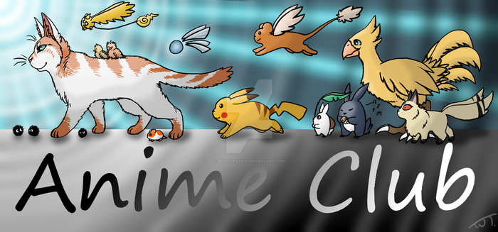 Anime Club Banner by wolftail1999