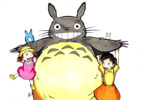 Commission: My Neighbor Totoro by Smudgeandfrank