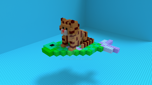 Lego Cat by x1689