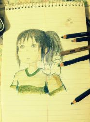 trying to draw Chihiro Ogino~ by TianSummy