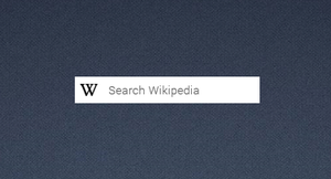 Wikipedia Search Bar by DevilRev