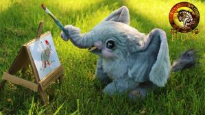 Sold, Poseable Baby Elephant! by Wood-Splitter-Lee