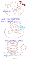 (Doodling) Magolor goes to the dentist by Ele-nya