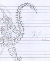 Alien Xenomorph Drone by kingkill666