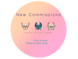*mini face* Pixel Icon commissions by waiako