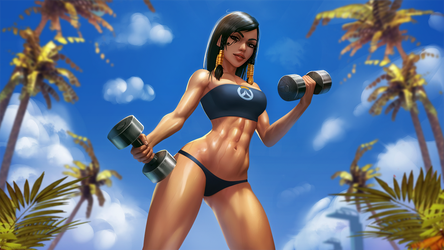 Pharah workout by Evulart