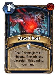 Hearthstone card concept - Blood Boil by SnowingGnat