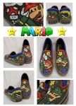 Mario and Luigi Shoes by artsyfartsyness