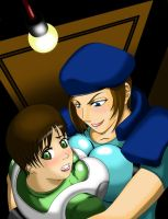 Hiding in the closet XD by Enres