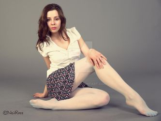 Kristyna, in powder blue tights. by Real-Neil