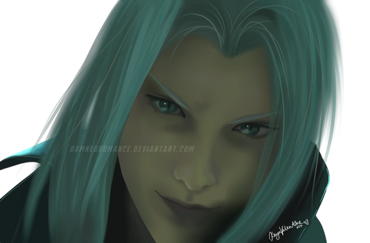 Sephiroth Digital Painting by DamnedRomance