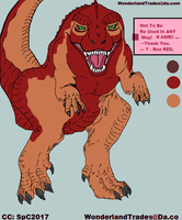 T-Rex RED (MS Paint Doodler - Read + Buy $ Base ) by WonderlandTrades