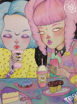 Breakfast Babes by l0ll3