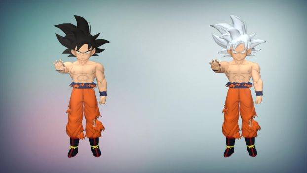 XPS/Xnalara DBXV2 Kid Goku UI and MUI by diegoforfun