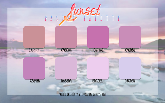 Sunset pastel PALETTE No. 1 by @teddysnina by teddysnina
