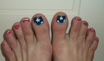 4th of July Toe Nail Design (2013) by Winged-blackshell