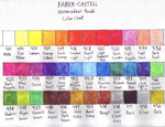 Faber-Castell Watercolour 36 pc Color Chart by Ishimaru-Chiaki