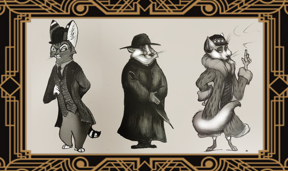 The three Great Detectives by FairytalesArtist