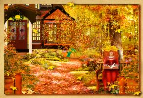 Autumn postcard by Lady-Shining-Wings