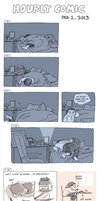 Hourly Comic 2013 by e1n