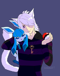 [CM] Miqo'te and Glaceon by louverusee