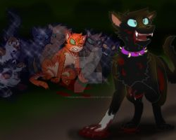 NOT FINISHED YET SCOURGE - Firestar: Warrior Cats by pinkbunnygirl43