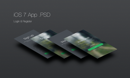 iOS 7 Login and Register App Free .PSD by emrah-demirag