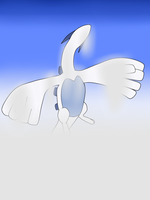 Flight of the lugia by AlaranGaerlan