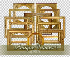 Antique Frames 3 PNGs by Bellacrix
