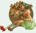 laine and flowers by loish
